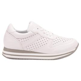 Kylie blanco Calzado deportivo con piel ecológica