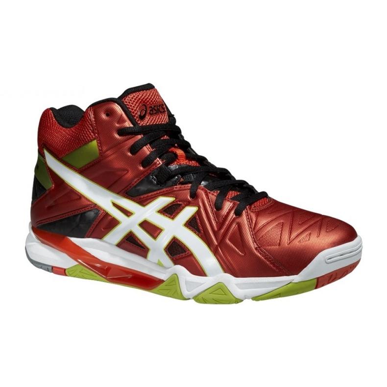 Zapatillas de voleibol Asics Gel-Cyber Sensei 6 Mt M B503Y-2101 rojo multicolor