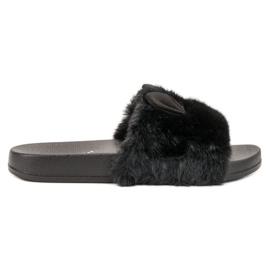 Vinceza negro Zapatillas Negras Con Piel