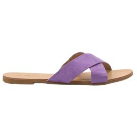 Primavera Zapatillas planas cómodas púrpura