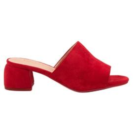 Rojo Zapatillas De Ante En Piston VINCEZA