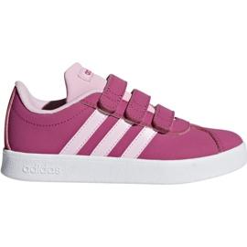 Zapatos Adidas Vl Court 2.0 Cmf C rosa Jr F36394