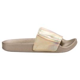 Small Swan Zapatillas de moda de oro amarillo