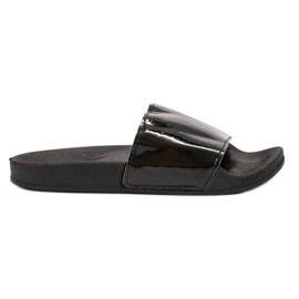 Small Swan negro Zapatillas negras de moda