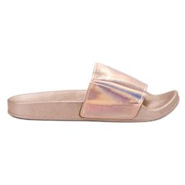 Small Swan Zapatillas de moda de oro rosa