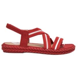 Seastar rojo Sandalias cómodas de las mujeres