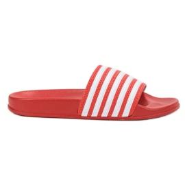 SHELOVET Zapatillas deportivas con cinturones rojo