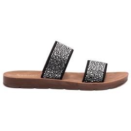 Seastar negro Zapatillas Con Zirconitas