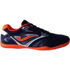 Botas de fútbol Joma Maxima 903 Sala In M azul marino naranja