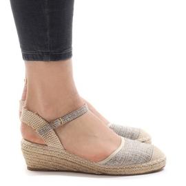 Sandalias con cuña grises LLI-3M88-7 alpargatas