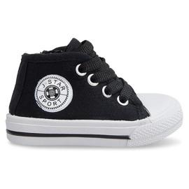 Zapatillas altas para niños Y1309 Negro