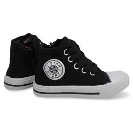 Zapatillas altas para niños Y1312 Negro