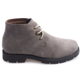 Zapatos Casuales Altos Atados 81909 Taupe