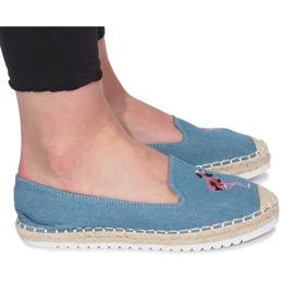 Alpargatas Azules Flaming Jeans