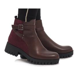 Marquiiz rojo Burdeos elegantes botas C-7210