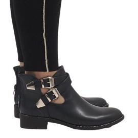 Ideal Shoes marina Botines abiertos azul marino Y8157