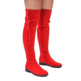 Foreverfolie rojo Botas de gamuza rojas cálidas H308
