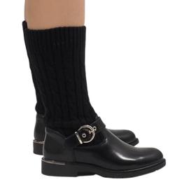 Ideal Shoes Botas negras calientes E-4939 negro