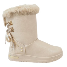 Marrón Botas de nieve beige para mujer AN-107