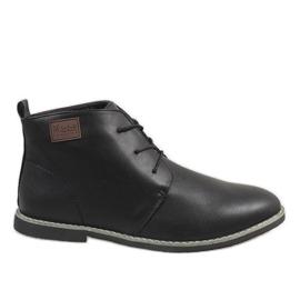 Zapatos de hombre con aislamiento negro 989-1