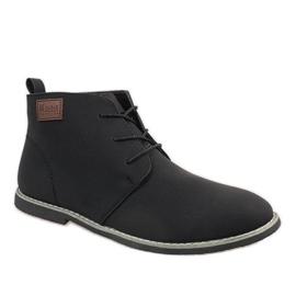 Zapatos de hombre con aislamiento negro 989-2