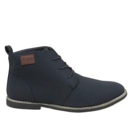 Marina Zapatos de hombre con aislamiento azul marino 989-3