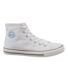 Blanco Zapatillas clásicas blancas de hombre CQ-1401.