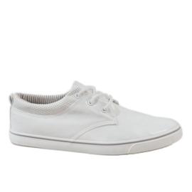 Blanco Zapatillas clásicas blancas de hombre BK-6005.