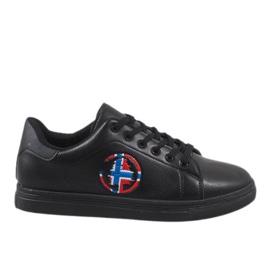 Negro Zapatillas negras de hombre D20533