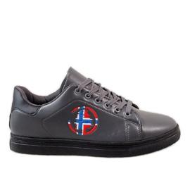 Zapatillas grises de hombre D20533
