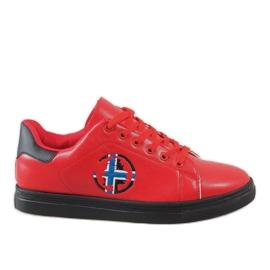 Rojo Zapatillas rojas para hombre D20533