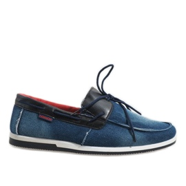 Marina Mocasines elegantes azul oscuro zapatos AB108-1