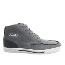 Zapatos altos elegantes grises F10455