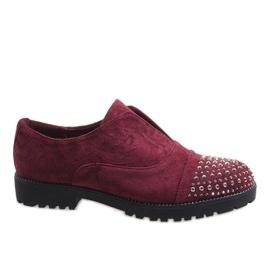 Rojo Zapatillas burdeos con tachuelas 22-2