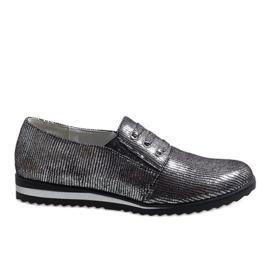 Zapatos con cordones grises TL-33