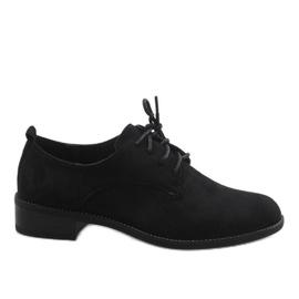 Zapatos de jazz negros con zapatos de gamuza C-7183