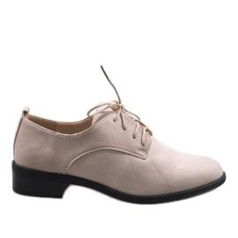 Marrón Zapatos de jazz beige zapatos de gamuza C-7183