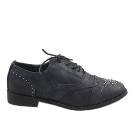 Zapatos Negros Jazzówki Ćwieki 138-P