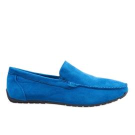 Mocasines elegantes azul oscuro zapatos AB07-6