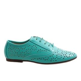 Zapatillas de jazz caladas menta Oxford 3