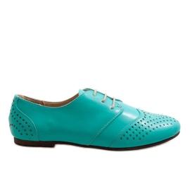 Zapatos de jazz calados verdes Oxford 1