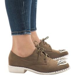 Zapatillas sin cordones verdes con lentejuelas L155