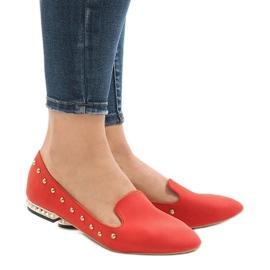 Mocasines rojos para las bailarinas ZHC-980.