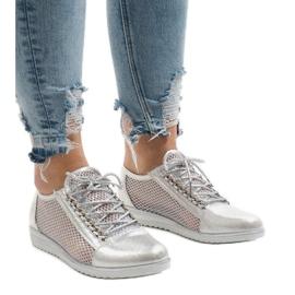 Gris Zapatos calados plata TL44