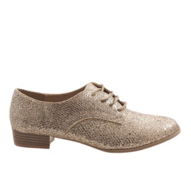 Amarillo Zapatos de encaje dorado G086