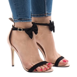 Sandalias de ante rosa tacones altos arco JZ-6334