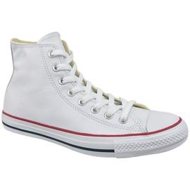 Blanco Converse Chuck Taylor All Star Hi Leather en 132169C