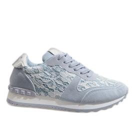 Zapatillas azules con encaje G-100.
