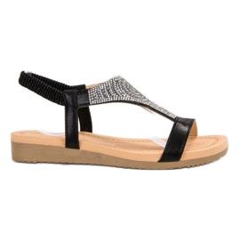 Top Shoes Elegantes sandalias negras negro