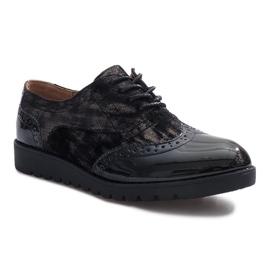 Zapatos de ante negros Adele